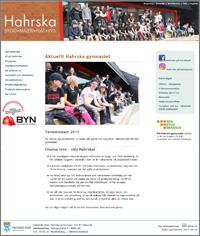 Hahrska gymnasiets webbplats