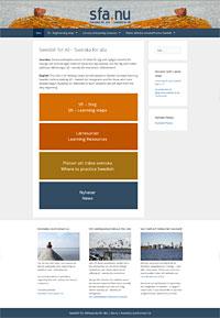 Webbplatsen Svenska för alla - Swedish for All